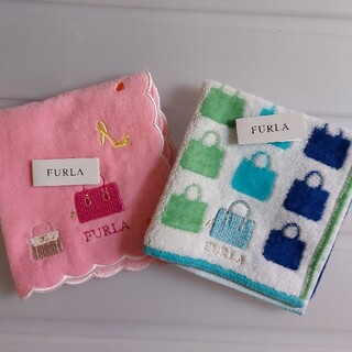 Furla - 新品 FURLA フルラ ミニ タオル 2枚セット ハンカチ