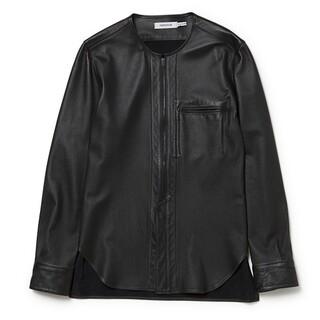 ノンネイティブ(nonnative)のnonnative レザーシャツ 黒 1(シャツ)