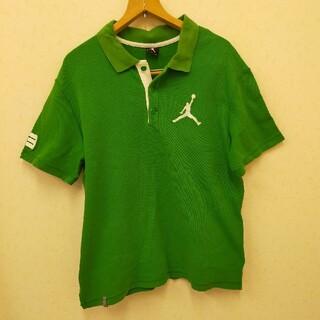 ナイキ(NIKE)のNIKエアジョーダン/襟付きシャツ/メンズ/XLサイズ/胸元にシミ有り/グリーン(ポロシャツ)
