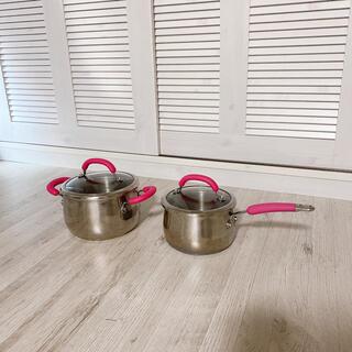 マイヤー(MEYER)のMEYER 蓋付き 片手鍋 両手鍋 2点セット (鍋/フライパン)