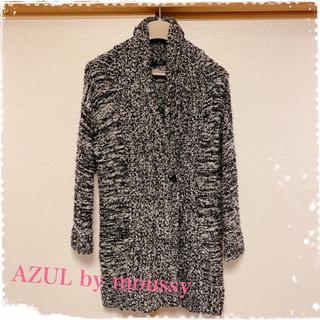 アズールバイマウジー(AZUL by moussy)のAZUL ツイード柄コート(ロングコート)