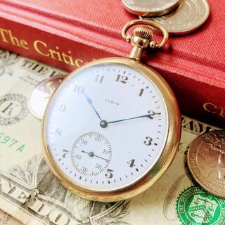 エルジン(ELGIN)の#1336【シンプルがいい!】エルジン 機械式 手巻 メンズ 懐中時計(その他)