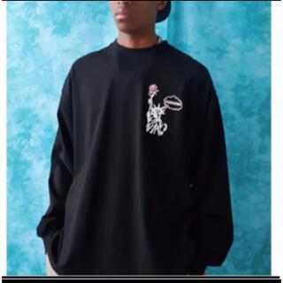 フーズフーギャラリー(WHO'S WHO gallery)のフーズフー 新品手書きロゴビッグロンTEE 黒(Tシャツ(長袖/七分))