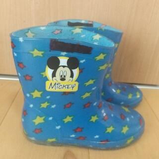 ディズニー(Disney)の子ども 男の子 長靴 16.0cm ミッキー ディズニー 青 星柄(長靴/レインシューズ)