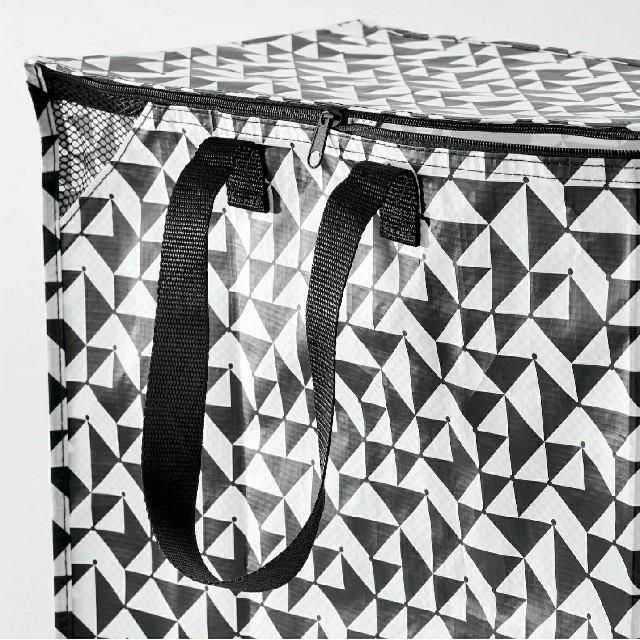 IKEA(イケア)のイケアIKEAエコバッグKNALLA クナラ バッグ, ブラック/ホワイト47L インテリア/住まい/日用品の収納家具(ケース/ボックス)の商品写真