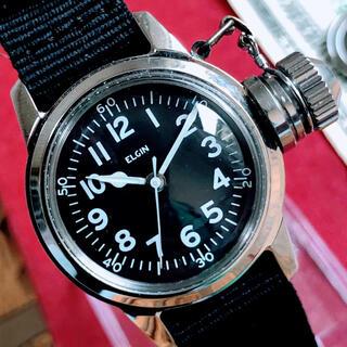 エルジン(ELGIN)の#1346【人気のミリタリー】メンズ 腕時計 エルジン 動作良好 ヴィンテージ (腕時計(アナログ))