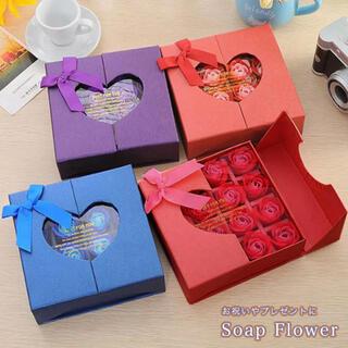 ソープフラワー フラワーボックス シャボンフラワー 母の日 ギフト バラ お花(ボディソープ/石鹸)