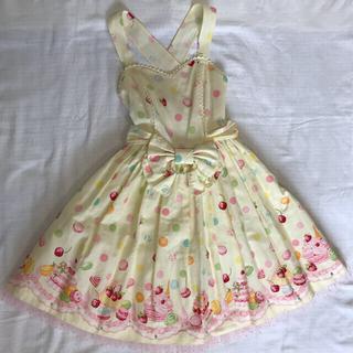 アンジェリックプリティー(Angelic Pretty)の夢みるマカロンジャンパースカート リメイク品 Angelic Pretty(ひざ丈ワンピース)