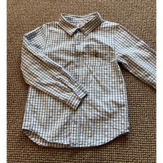プチバトー(PETIT BATEAU)のプチバトー ブルーチェックシャツ 6a(ブラウス)