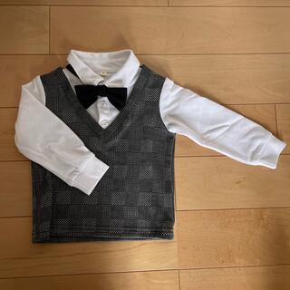 ニシマツヤ(西松屋)の子供服 ベスト付きシャツ(セレモニードレス/スーツ)