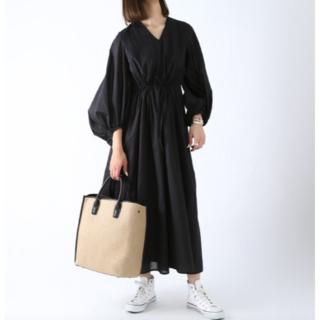 トゥモローランド(TOMORROWLAND)の新品MARIHA 「春の光のドレス」ロングスリーブワンピース 36(ロングワンピース/マキシワンピース)
