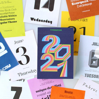 タイポダリウム カレンダー 2021(カレンダー/スケジュール)