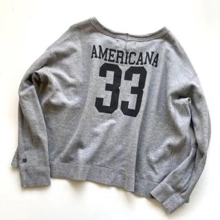 AMERICANA - アメリカーナ ナンバリング スウェット トレーナー