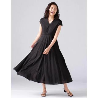 ドゥーズィエムクラス(DEUXIEME CLASSE)の新品タグ付き MARIHA / 春の月のドレス 黒 36(ロングワンピース/マキシワンピース)
