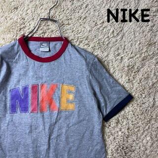 ナイキ(NIKE)の美品◆NIKE◆ 半袖Tシャツ カラフル グレー デカロゴ ナイキ(Tシャツ/カットソー(半袖/袖なし))