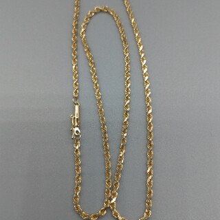 アヴァランチ(AVALANCHE)の10K イエローゴールド ロープチェーン 未使用品 海外購入 送料無料(ネックレス)