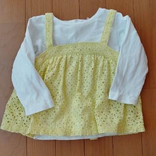 プティマイン(petit main)のプティマイン キャミ付きロングTシャツ(Tシャツ/カットソー)