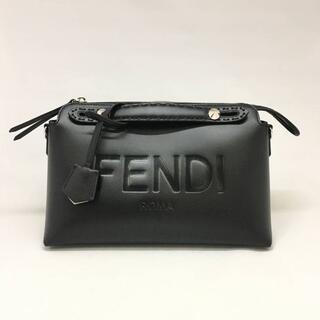 フェンディ(FENDI)の新品 SS21 FENDI バイ ザ ウェイ ミディアム ロゴ バッグ ブラック(ハンドバッグ)