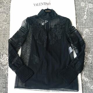 VALENTINO - 専用✨VALENTINO レースハイネックブラウス 黒 4 美品