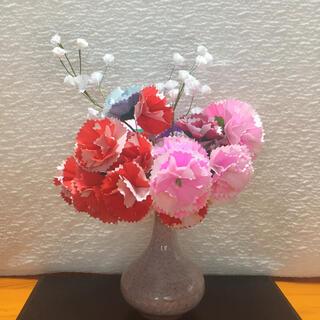 母の日  カーネーション22本 花束  インテリア かすみ草  折り紙  手作り(その他)