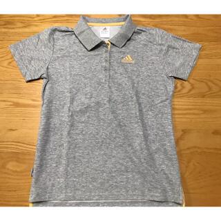 アディダス(adidas)のアディダス ポロシャツ sizeXLグレー レディース(ポロシャツ)