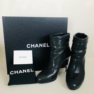 CHANEL - 美品 CHANEL ブラック ショートブーツ