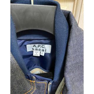 サカイ(sacai)の最安値 sacai apc デニムジャケット 新品 サイズxs(Gジャン/デニムジャケット)