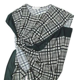 ビューティフルピープル(beautiful people)のビューティフルピープル check pt jersey drape top(Tシャツ(半袖/袖なし))
