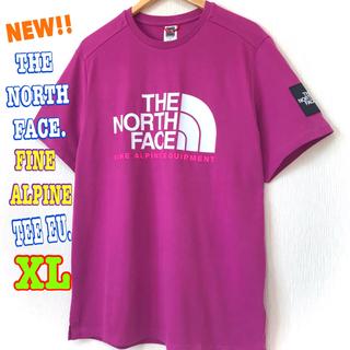 ザノースフェイス(THE NORTH FACE)のユニセックス ♪ ノースフェイス ファイン アルパイン Tシャツ EU 紫 XL(Tシャツ/カットソー(半袖/袖なし))
