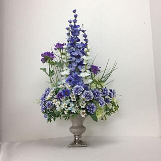 みぢかに花のある時間 これからの季節、蒼い花たちのアレンジメント(その他)
