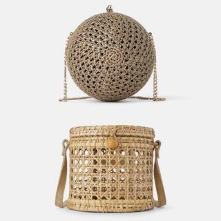 ザラ(ZARA)のZARA バッグ 2個セット 籠 かご ポシェット チェーンバッグ ショルダー(かごバッグ/ストローバッグ)