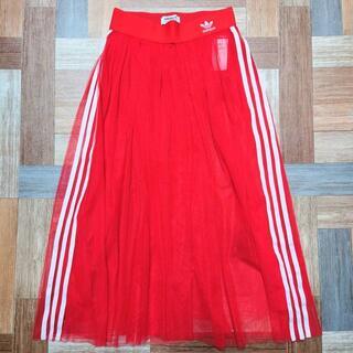アディダス(adidas)のadidas チュール スカート レッド(ロングスカート)