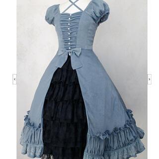 ヴィクトリアンメイデン(Victorian maiden)の5月5日までお値下げ*SwanLakeリボンドレス(ひざ丈ワンピース)