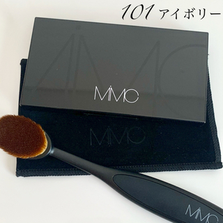 MiMC - 【MiMC】ミネラルクリーミーファンデーション 101 アイボリー&ブラシセット