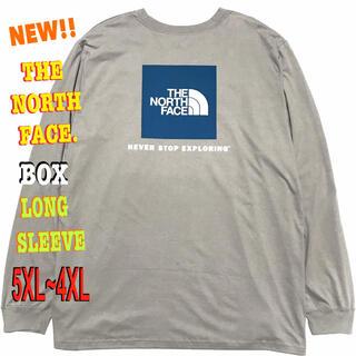 ザノースフェイス(THE NORTH FACE)の最大 ♪ 新品 ノースフェイス BOX NSE ロンT グレー 5XL(Tシャツ/カットソー(七分/長袖))