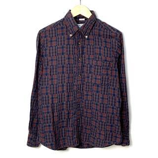 インディヴィジュアライズドシャツ(INDIVIDUALIZED SHIRTS)のインディビジュアライズドシャツ パッチワーク風 長袖シャツ 16-33(シャツ)
