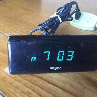 セイコー(SEIKO)のSEIKO デジタルアラーム置き時計 黒(置時計)
