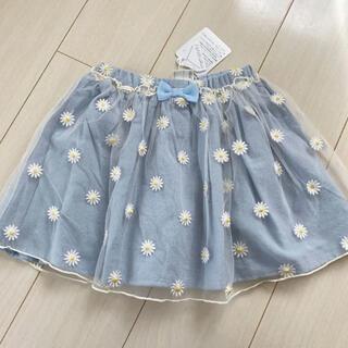 シマムラ(しまむら)のmamaraku 120 お花 チュールスカート スカパン(スカート)