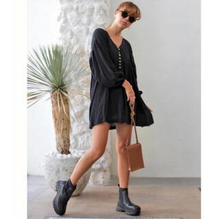 ルームサンマルロクコンテンポラリー(room306 CONTEMPORARY)のroom306 Design Tunic Wide One-piece 黒 新品(ひざ丈ワンピース)