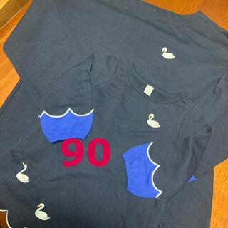 グラニフ(Design Tshirts Store graniph)の90 ミニワンピ グラニフ 白鳥(ワンピース)