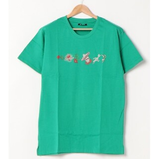 新品タグ付きチャイハネメンズカラベラプリントTシャツエスニックメキシカン