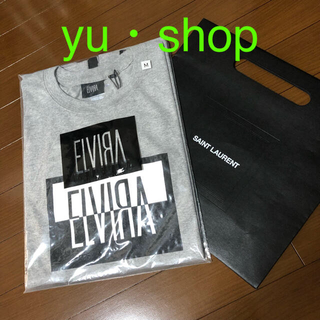 エルヴィア(ELVIA)のグレイ エルビラ 登坂  希少  Tシャツ M GRY 新品未使用。ラスト1点(Tシャツ/カットソー(半袖/袖なし))