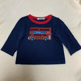 ファミリア(familiar)のロンT 長袖 カットソー ファミリアチェック ファミリア ネイビー 赤 80(シャツ/カットソー)