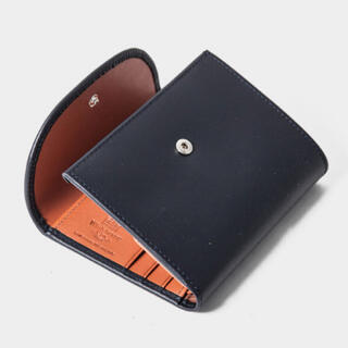 ホワイトハウスコックス(WHITEHOUSE COX)のネイビー×タン ホワイトハウスコックス SMALL 3FOLD ミニ 三つ折り(折り財布)