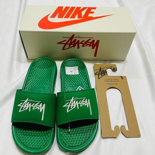 ナイキ(NIKE)のStussy Nike ベナッシ パイングリーン US8 新品未使用(サンダル)