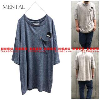 ムーンエイジデビルメント(Moonage Devilment)の超美品 MENTAL ポケットS/S Tシャツ NAVY(Tシャツ/カットソー(半袖/袖なし))