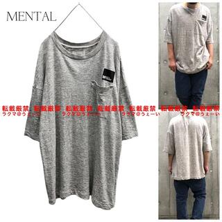 ムーンエイジデビルメント(Moonage Devilment)の超美品 MENTAL ポケットS/S Tシャツ GRAY(Tシャツ/カットソー(半袖/袖なし))