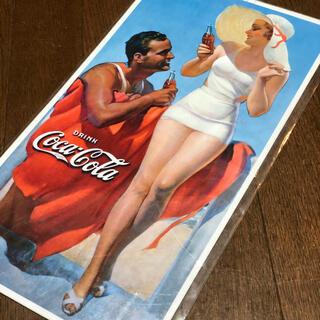 コカコーラ(コカ・コーラ)のコカコーラ SUMMER BEACH ブリキ看板 405×215(ソフトドリンク)