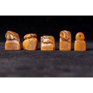 5個セット 印章印材(彫刻/オブジェ)