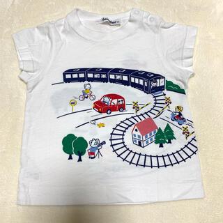 familiar - Tシャツ 半袖 電車 踏切 車 おはなしTシャツ ファミリア 80 男の子